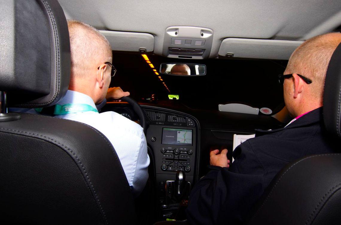 Pilotos queriam 2014 - Orio Alemanha chefe JP Schuhmacher e o blogueiro na viagem de orientação © 2014 saabblog.net