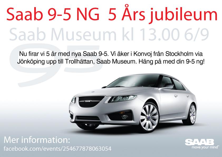 SAAB 9-5 NG, 5 Jahre Publikumspremiere.
