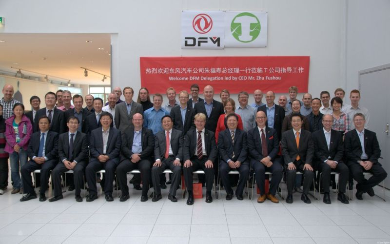 Dongfeng delegation and T-Engineering at Saab Bil Museum. Picture: T-Engineering