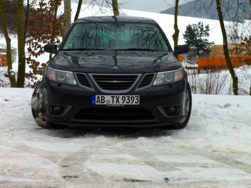 Turbo X im Winter, natuerliche Umgebung @2014 saabblog.net