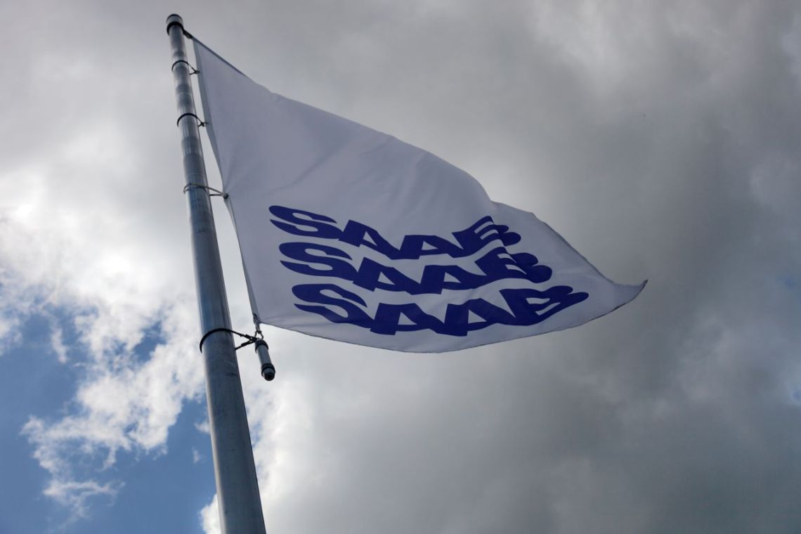 Saab Fahne im Wind, wir lassen sie weiterwehen ©2014 UKB
