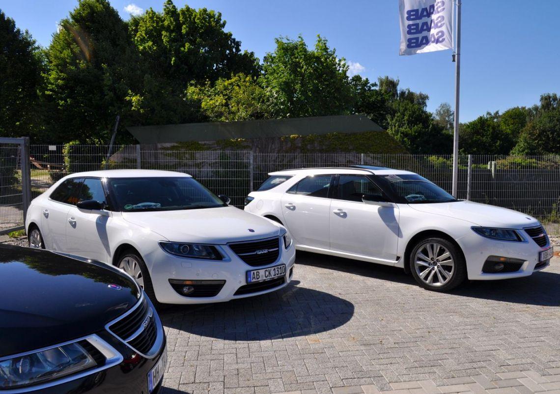 Saab 9-5 NG Sportkombi und Limousine. Die Fahrzeuge von Michèl und Tom. Willkommen in Team!