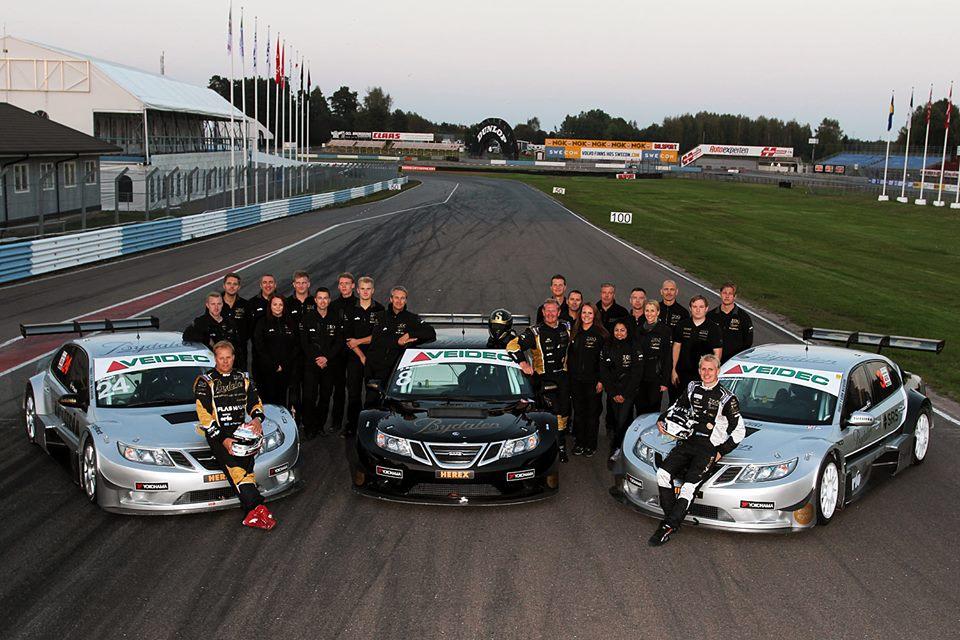 Saab 9-3 Team Tido, финал сезона. Изображение: Team Tido