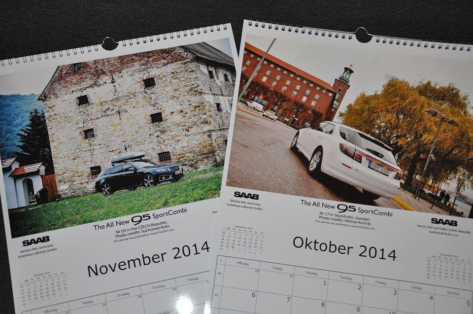 De 2014 SAAB 9-5 NG SportCombi kalender; de nieuwe editie komt eraan!