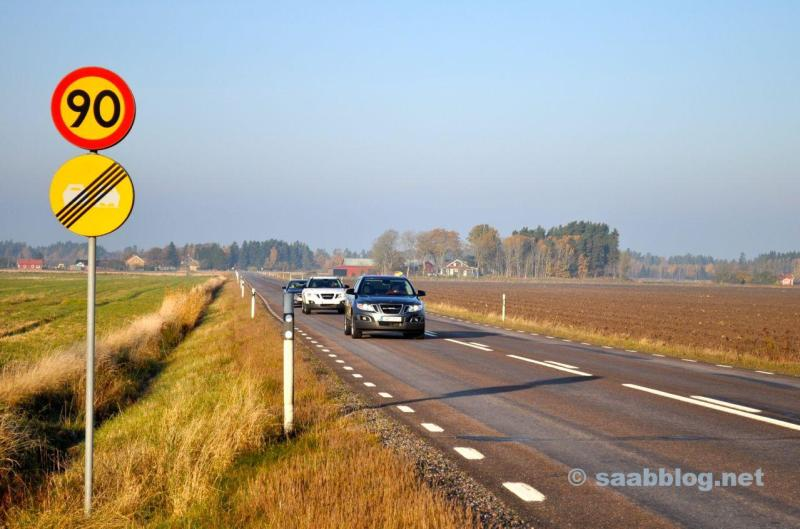 SAAB 9-4x och 9-5 NG SC på vägen i Sverige.