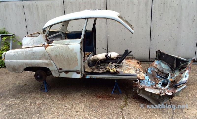 Fue una vez un Saab, no queda nada.