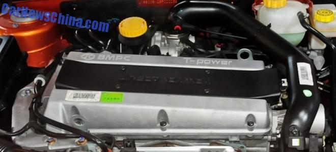 Ex-Saab 2 liter turbo Bild: Carnewschina