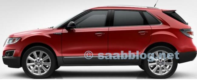 Saab 9-4x, Crystal Red Metallic, 20 ""