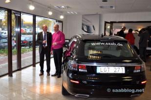 Спортивный костюм Saab 9-5 NG в Бредлоу, посещение JP Schuhmacher.