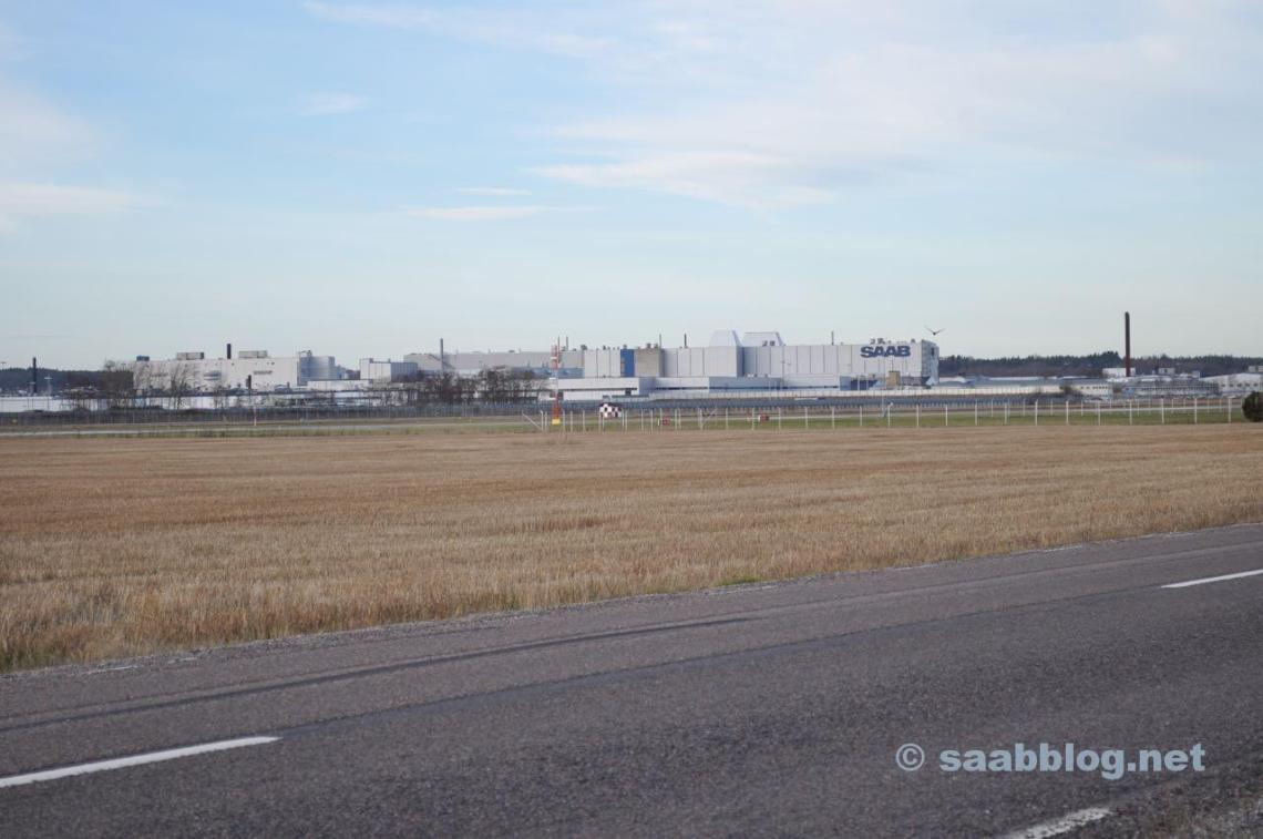 03.12.2013 Das Saab Werk in der Morgensonne