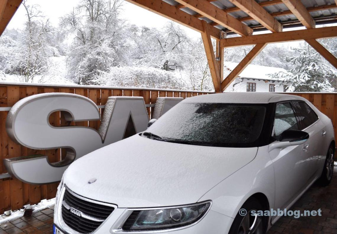 Schnee im Rhein-Main Gebiet.