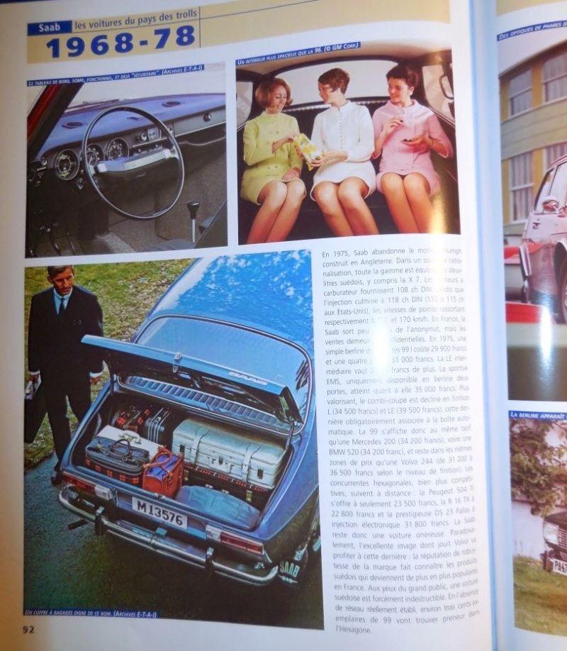 En av de första Saab 99 i Tyskland, byggd i 1969 (Bildkälla: SAAB les voitures du pays des trolls, Xavier Chauvin, ETAI)