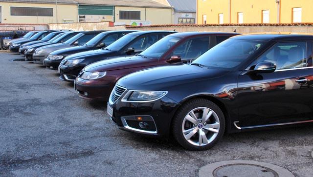 Många pre-owned SAABs till salu. © Alexander King / Saab Club Österrike.