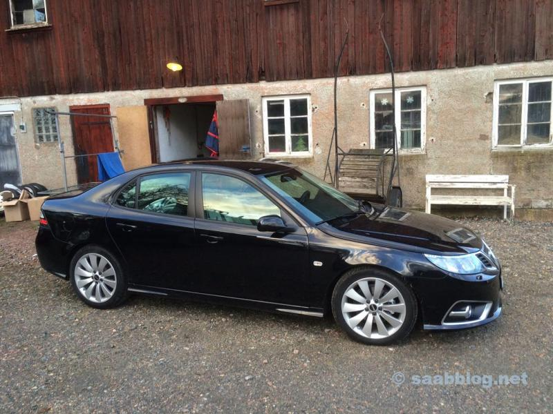 Saab 9-3 in Lilla Edet