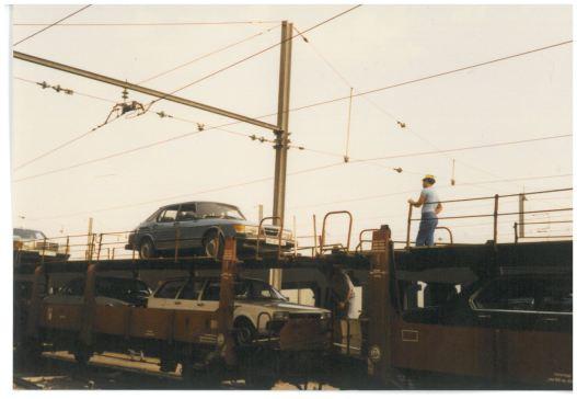 1985 SAAB 900 turbo i Frankrike