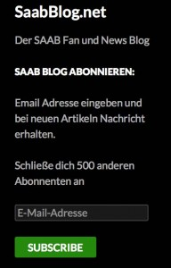 500 Saab Blog-abonnenter!