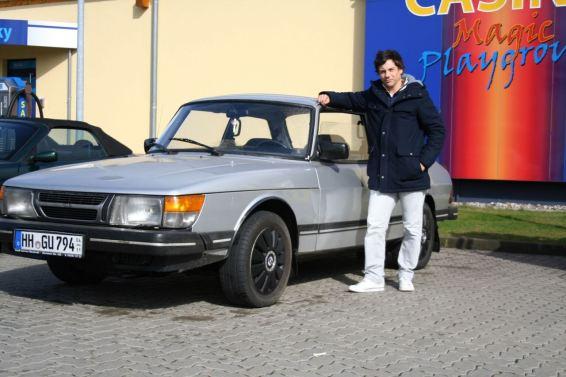 Jan-Frederik e seu Saab