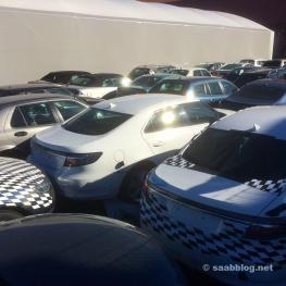 Saab prueba vehículos y prototipos.