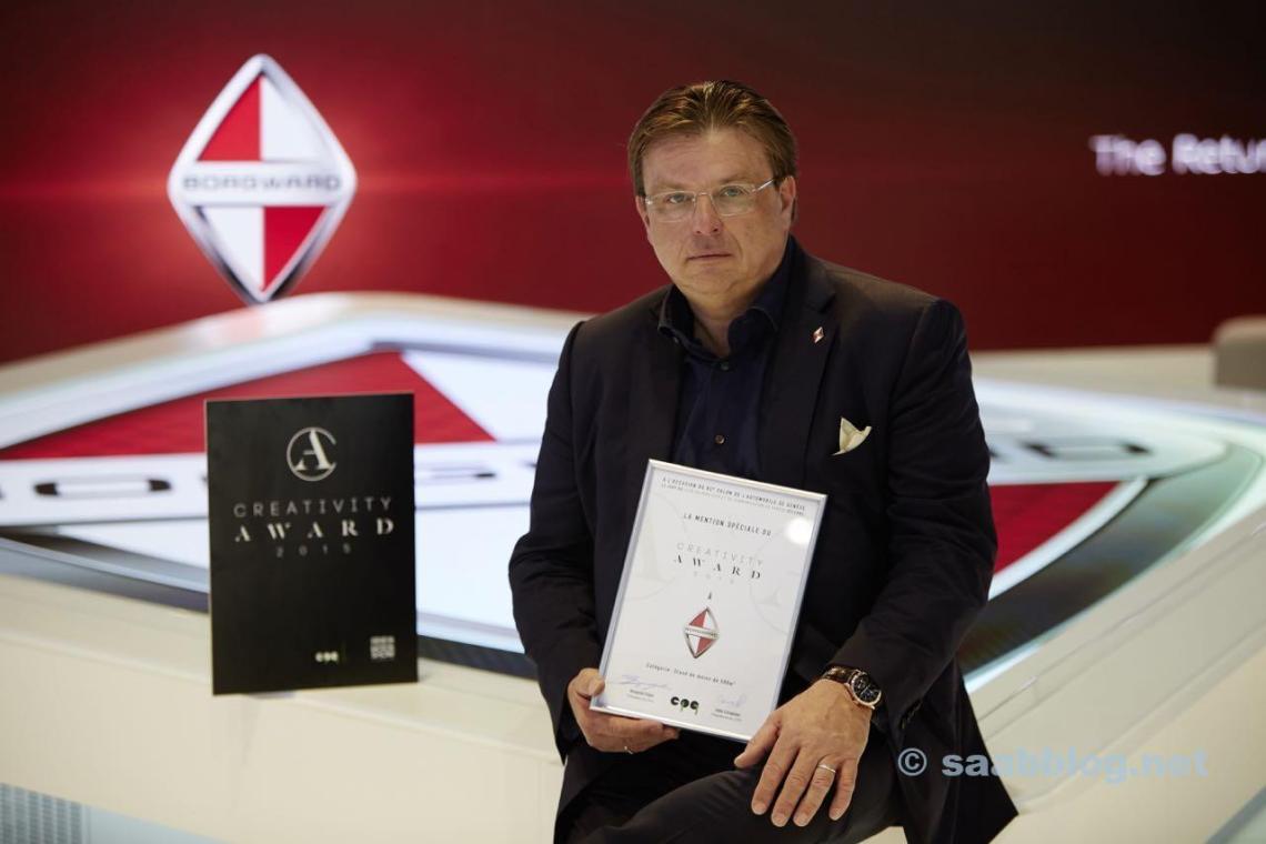 Karlheinz L. Knöss, vice-presidente e CEO da Borgward AG. Imagem: obs / BORGWARD AG