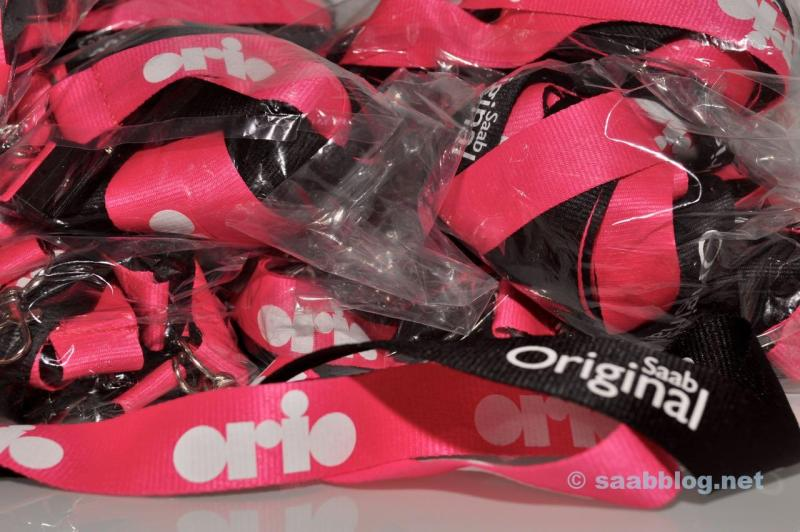 Orio - Saab Lanyards for the pre-tour.