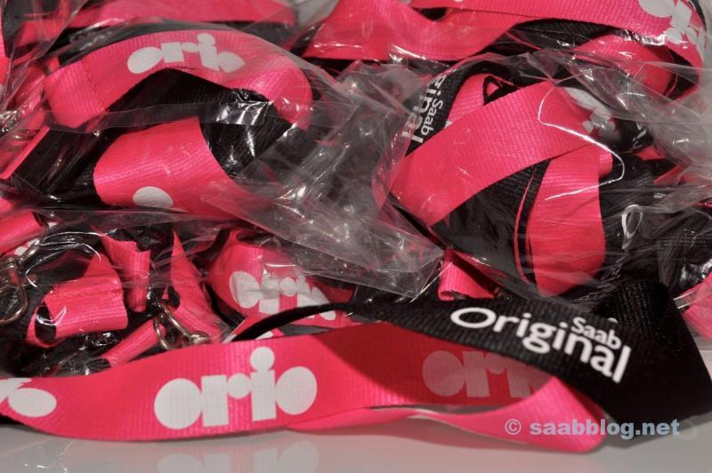 Orio - Saab Lanyards fuer die Pre-Tour.