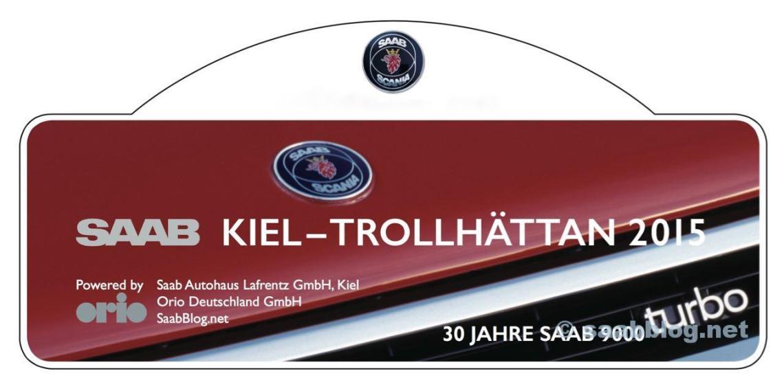 Saab Rallye Plate. Tour Kiel - THN 2015