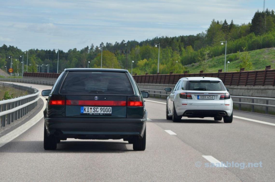 Saab 9000 SC und Saab 9-5 NG SC von Saabblog.net Blogger Michèl