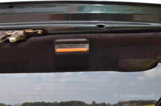 Het handvat is bekend. Originele Saab 9000.
