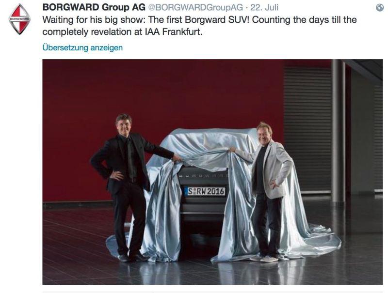 بورغوارد سيارات الدفع الرباعي - أول نظرة عبر تويتر