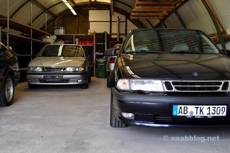 Unser Saab Hangar. Anna ist in den letzten 12 Monaten nach hinten gewandert.