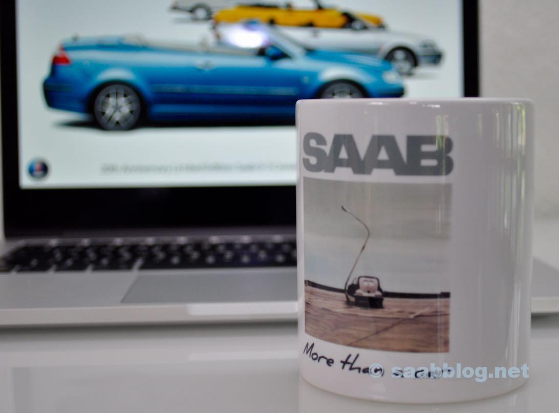 Saab Lesertasse 2015. Und weg ist sie...