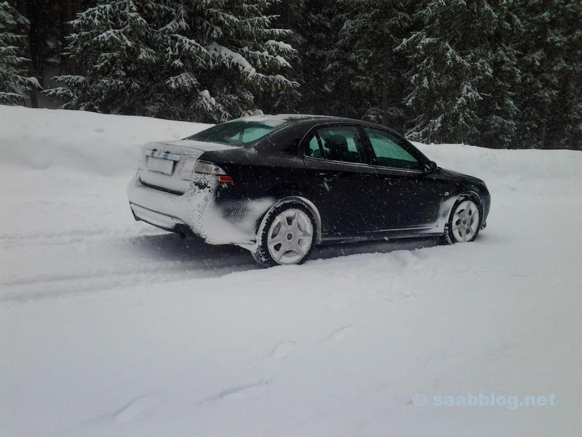 Freude pur! Saab 9-3 XWD von Andrè in Davos im Schnee