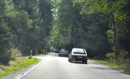 Saabs på vägen i Sachsen