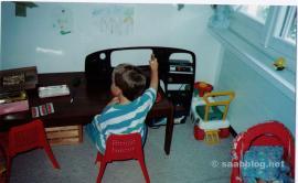 Matthias, son of Thomas, driving the Saab ...