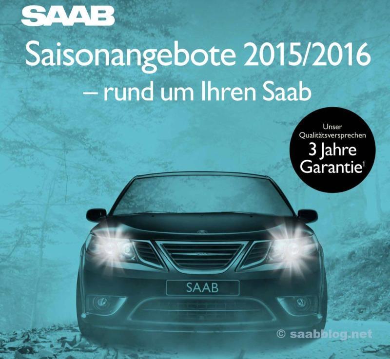 Saab Seasonal Offers 2015 / 16