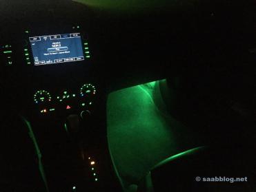 Saab 9-3 Ambientelicht. Original Saab Kit.