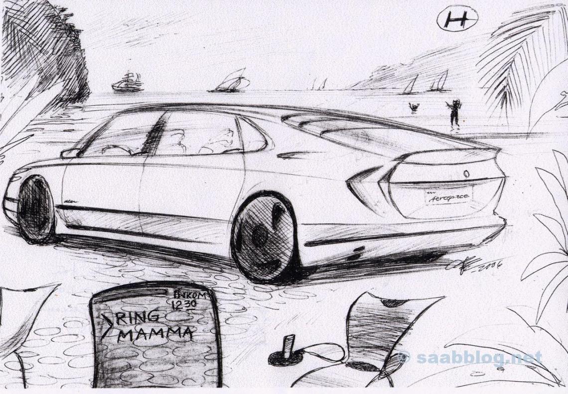 Successeur de Saab 9000. Conception Bjoern Envall