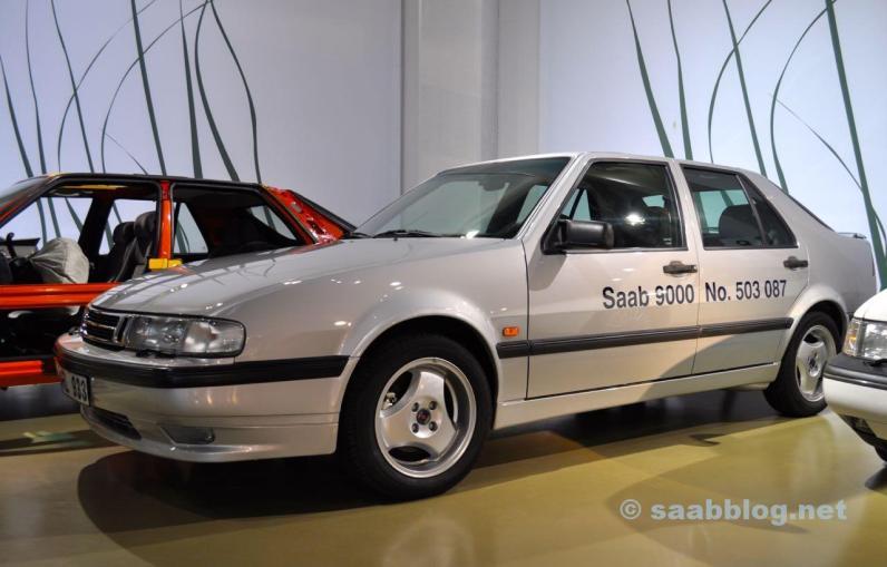 Der letzte gebaute Saab 9000 im Bilmuseum