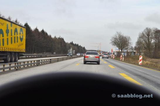 Saab 9-5 2.3t. No caminho para Hesse.