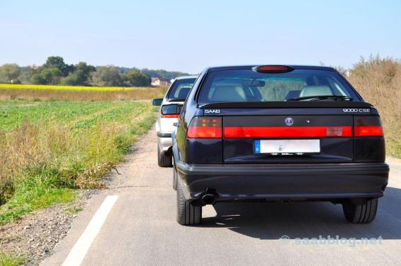 Saab 9000 CSE 2.0t, årsdag och 9000 CSE 2.3t årsdag, båda 30.03.1998.