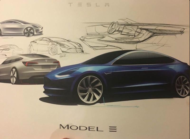 Model 3 Sketches. Elon Musk per Twitter