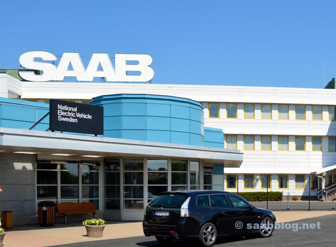 Saab Hauptportal mit Turbo X