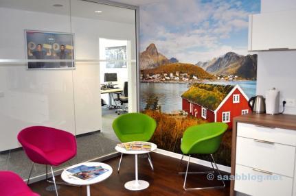 Chambre pour pause et créativité, très suédoise.
