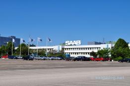 Saab Fahnen, Saab Logo. Schwedische Idylle.