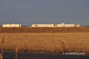 Winterzon en de Saab-fabriek.