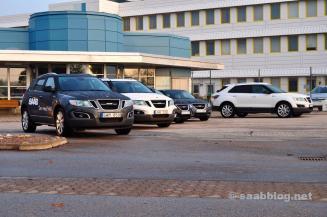 Hoofdportaal, Saab-fabriek, oktober 2011