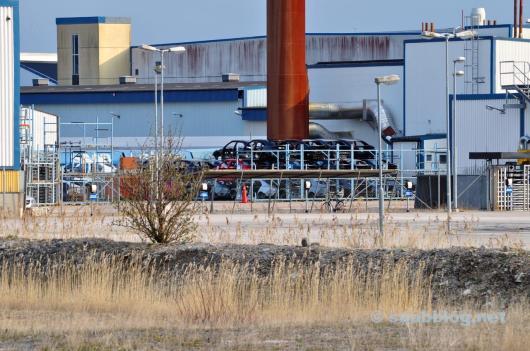 Abril 2012, Saab 9-5 bodyshells.