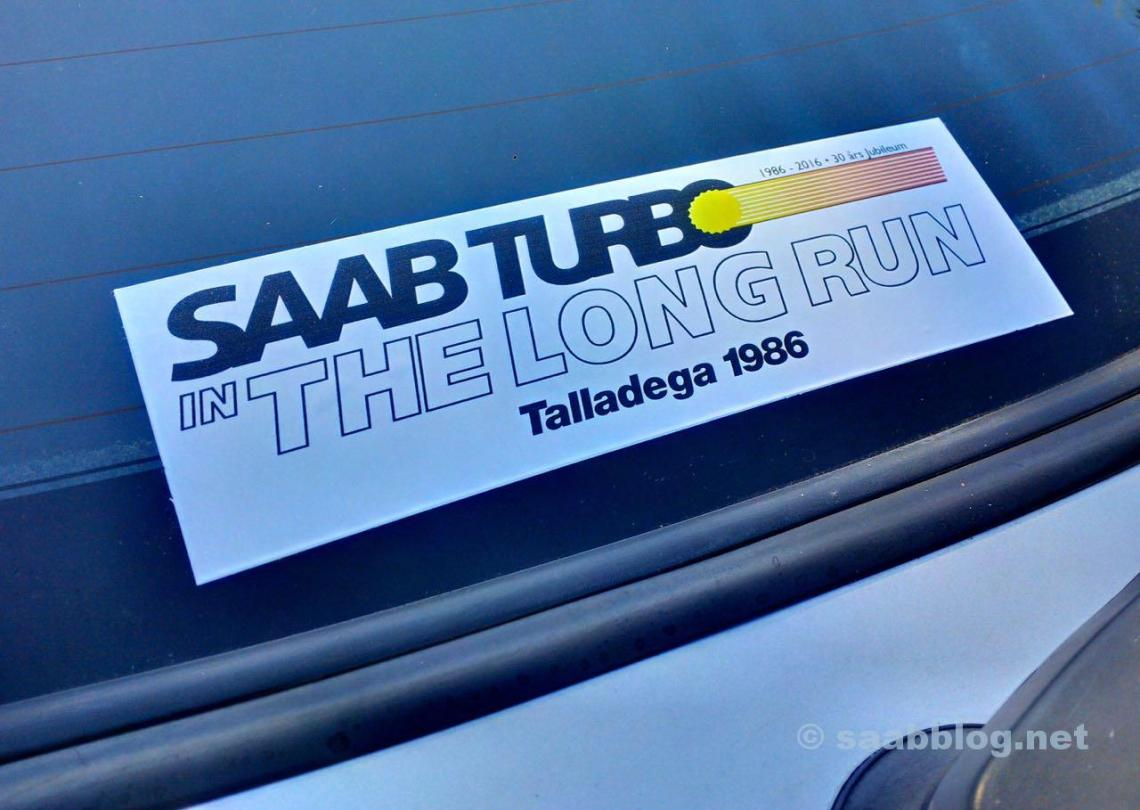 Talladega Long Run. De sticker voor het jubileum