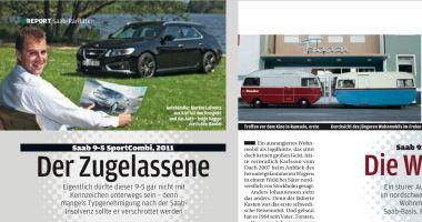 Saan 9-5 SC 2011 und Husbilen. Credit: Autobild Klassik