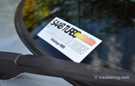 Passar även: Saab Talladeg årsdagsklistermärke